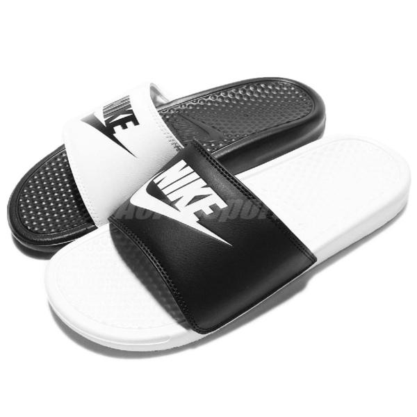 Nike 拖鞋 Benassi JDI Mismatch 黑 白 男鞋 女鞋 陰陽 鴛鴦 涼拖鞋 【ACS】 818736-011