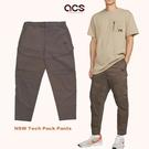 Nike 長褲 NSW Tech Pack 男款 咖啡 工裝 拉鍊 錐形小腳 修飾 多口袋【ACS】 DD6571-004