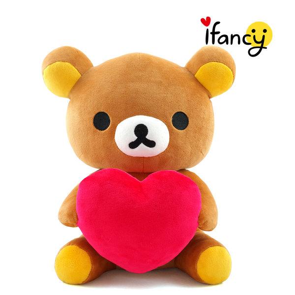 拉拉熊 正版授權 甜蜜愛心款(正坐)30公分絨毛娃娃 公仔 玩具 玩偶 ifancy