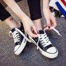 平底小白鞋帆布鞋女正韓布鞋百搭學生板鞋子 滿899元八九折爆殺