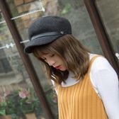 正韓羊毛呢復古八角帽女帽子英倫文藝畫家帽貝雷帽棒球帽活動商品85折