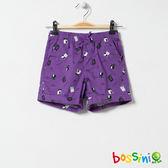 印花輕便短褲06紫-bossini女童