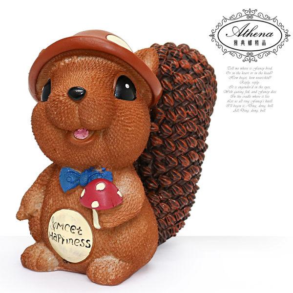 【雅典娜家飾】超萌可愛松鼠存錢筒擺飾-GZ46