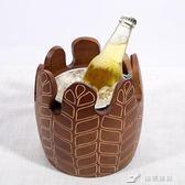 實木創意KTV酒吧冰桶冰塊桶香檳桶紅酒冰桶冰鎮桶放冰塊的桶 樂芙美鞋