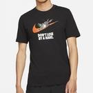 """【現貨】Nike Dri-FIT """"Hare"""" 男裝 短袖 龜兔賽跑 休閒 吸濕 排汗 印花 黑【運動世界】DD2099-010"""
