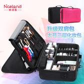 大號多層專業化妝收納包美甲紋繡半永久工具箱包郵
