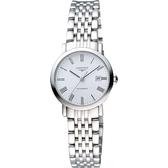 【滿額禮電影票】LONGINES 浪琴 Elegant 優雅系列羅馬機械女錶-白/28mm L43104116