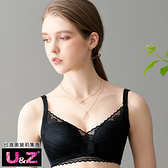 U&Z-香氛戀人 無鋼圈A-D罩內衣(花漾黑)-台灣奧黛莉集團