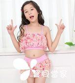 新款兒童泳衣女童韓版連體裙式中大童游泳衣公主學生韓國女孩泳裝