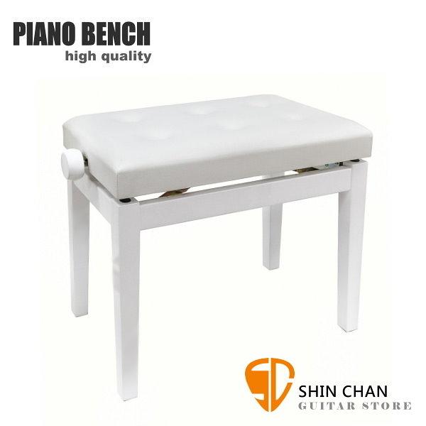 PIANO BENCH 白色鋼琴椅 PJ009 可調整高度鋼琴椅/電鋼琴椅/電子琴椅/piano琴椅/Keyboard椅