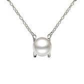 項鍊 925純銀珍珠吊墜-經典流行生日情人節禮物女飾品2色73dk397【時尚巴黎】