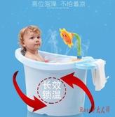 嬰兒浴盆 兒童浴桶大號嬰兒浴盆寶寶洗澡盆加厚可坐洗澡桶沐浴桶新生兒用品 【Rose中大尺碼】