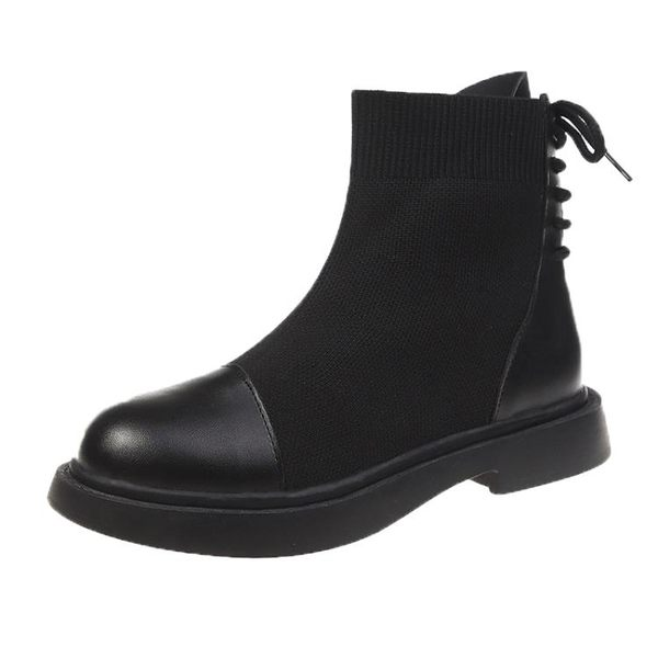 短靴 馬丁靴女英倫風新款百搭春秋單靴ins網紅彈力靴子夏 - 古梵希