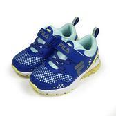 《FILA》兒童 MD氣墊慢跑鞋(內含高支撐鞋墊) 藍色 2-J422T-394