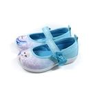 冰雪奇緣 Elsa Anna 休閒鞋 娃娃鞋 魔鬼氈 粉藍色 中童 童鞋 FNKP14626 no759