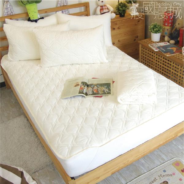 加大平鋪式保潔墊 (含枕套)【高質感防螨抗菌】6x6.2尺、細緻棉柔 #日本大和防螨認證SEK