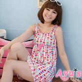 彩色愛心 洋裝式牛奶絲綿質繽紛居家睡衣 - Ayu's