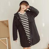 Poly Lulu 經典保暖鋪棉連帽大衣-黑【93040018】