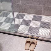 衛生間浴室防滑墊淋浴房拼接隔水墊子廁所廚房腳墊衛浴洗手間地墊6片裝