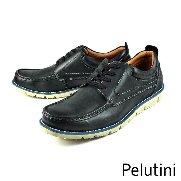 【Pelutini】輕量綁帶休閒鞋 黑色(6791-BL)
