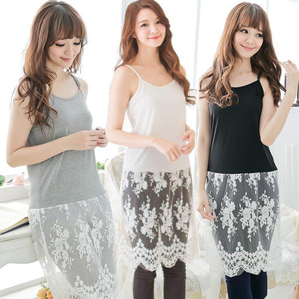 韓風綺麗蕾絲背心洋裝(3色)