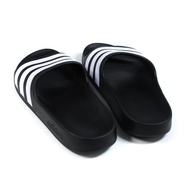 adidas 拖鞋 運動型 中童 童鞋 黑色 F35556 no896