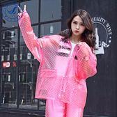 雨衣女成人韓國時尚徒步雨披電動摩托車雨衣雨褲套裝防水【全館限時88折】