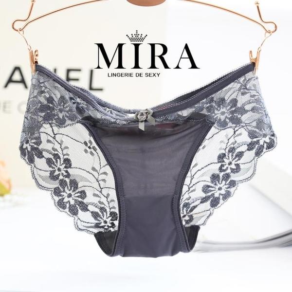 促銷 歐美時尚蕾絲性感內褲女莫代爾棉質面料中腰大碼玫瑰花女士三角褲