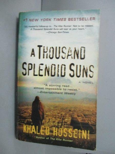 【書寶二手書T5/原文小說_GNK】A Thousand Splendid Suns_Khaled Hosseini