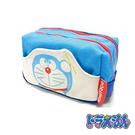 淺藍款【日本進口】哆啦a夢 DORAEMON 帆布 雙層 化妝包 收納包 - 150557