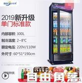 冰仕特飲料櫃商用保鮮冰箱立式單門大容量超市冷櫃冰櫃冷藏展示櫃CY  自由角落