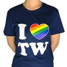 【收藏天地】創意T恤 我 LOVE (彩虹) 台灣 T恤∕   黑/白/灰色/藍/深藍/紅 創意T恤 送禮 旅遊紀念