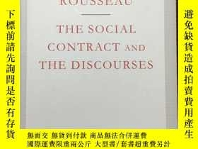 二手書博民逛書店The罕見social contract and the discourses 社會契約論和 其它文論 Jean-