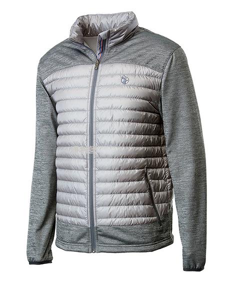 荒野WILDLAND 男款彈性針織拼接羽絨外套 0A62992 銀灰色 保暖外套 羽絨衣 輕羽絨 OUTDOOR NICE