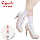 【衣襪酷】華貴 日韓流行立體粉色小花時尚短襪 暢銷熱賣款《花邊/踝襪/少女襪/花朵》