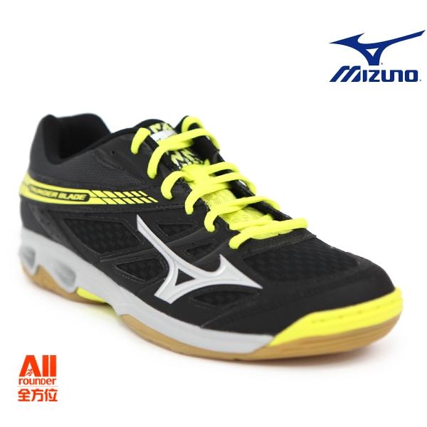 【Mizuno美津濃】男女款排球鞋THUNDER BLADE-黑黃色 (V1GA177005)全方位運動戶外館