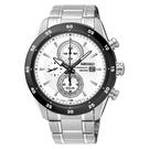 SEIKO 精工 太陽能三眼計時腕錶 SSC535P1 (V176-0AR0W)