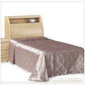 單人床架 柏森白橡色單人3.5尺床架/床頭+床底  (19SP/041-1+19SP/041-2)/H&D東稻家居