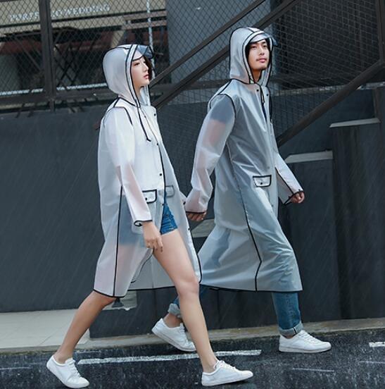 【葉子小舖】透明風衣連身長版雨衣/男女騎士/韓國時尚防水長版雨衣/斗篷雨衣