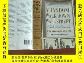 二手書博民逛書店A罕見Random Walk Down Wall Street: The Time-Tested Strategy
