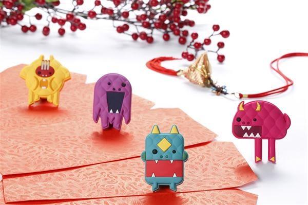 【Figurine! 】nien monster 年獸磁鐵/桃紅【Dotfuns】