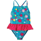泳衣 英國 Frugi 小童 大童 細肩帶連身泳裝 泳衣 - 藍綠珊瑚 SWS801JUM