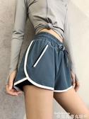 熱銷運動短褲annerun運動短褲女防走光寬鬆健身房跑步外穿速乾假兩件瑜伽短褲