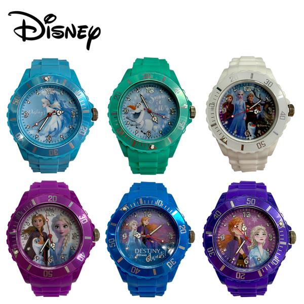 【正版授權】冰雪奇緣 矽膠 指針手錶 指針錶 兒童錶 手錶 艾莎 安娜 雪寶 迪士尼 Disney ---- 10146