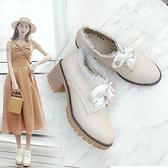 秋季女鞋冬季高跟鞋2020年新款鞋子秋冬百搭粗跟單鞋英倫風小皮鞋 【端午節特惠】