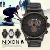 NIXON THE SENTRY CHRONO 42mm/男女兼用/軍事風格/A386-2786