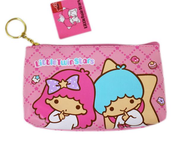 【卡漫城】雙子星 PVC 化妝包 ㊣版 Twin Stars Kikilala 萬用包 收納包 面紙包 零錢包 仿皮
