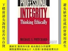 二手書博民逛書店Professional罕見Integrity: Thinkin