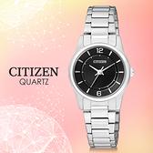 CITIZEN 星辰手錶專賣店 ER0180-54E 女錶 日系 不銹鋼錶殼錶帶 黑色錶盤 水晶玻璃鏡面 生活防水