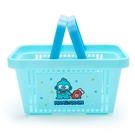 小禮堂 海怪 塑膠手提置物籃 購物提籃 浴室收納籃 瓶罐架 (藍綠 朋友) 4550337-73894